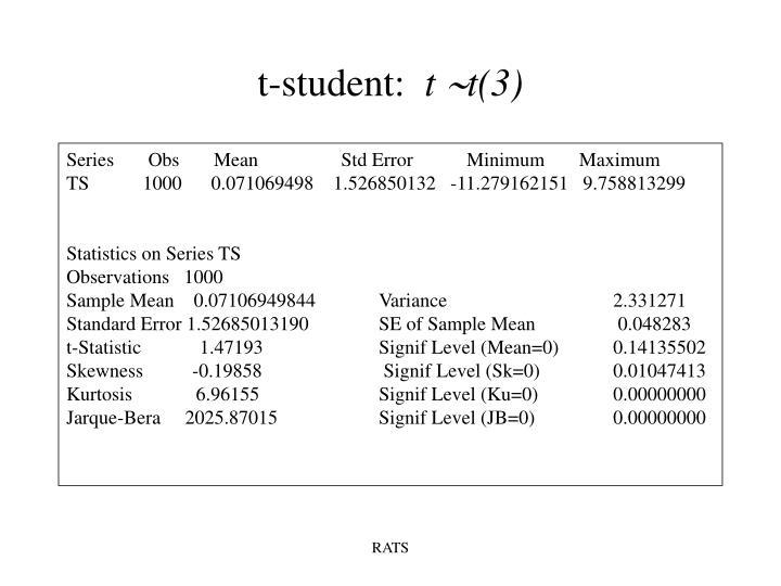 t-student: