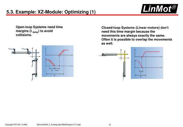 5.3. Example: XZ-Module: Optimizing (1)