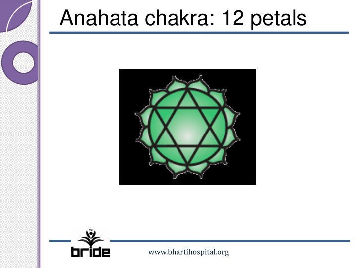 Anahata chakra: 12 petals