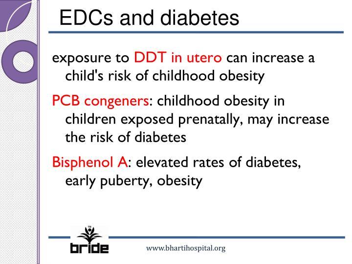EDCs and diabetes