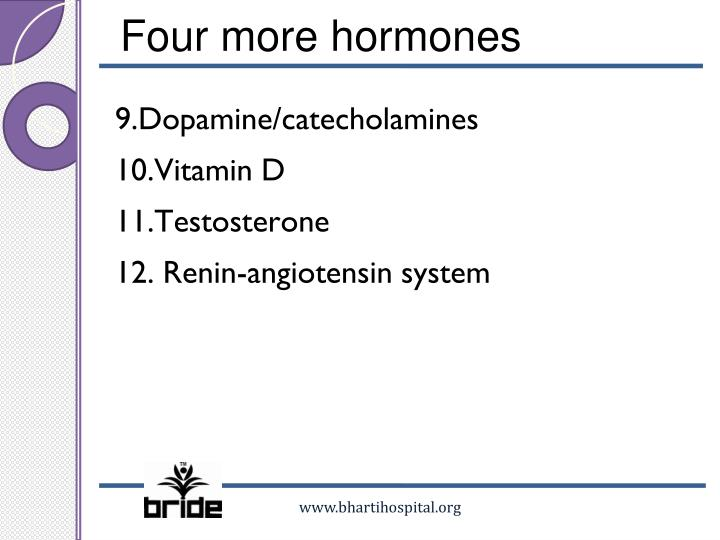 Four more hormones