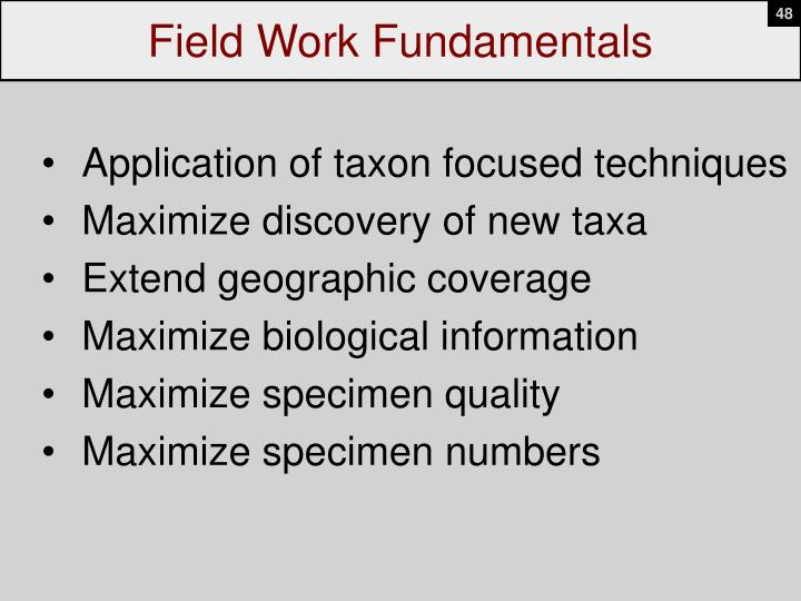 Field Work Fundamentals