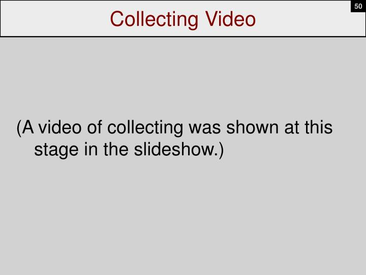 Collecting Video
