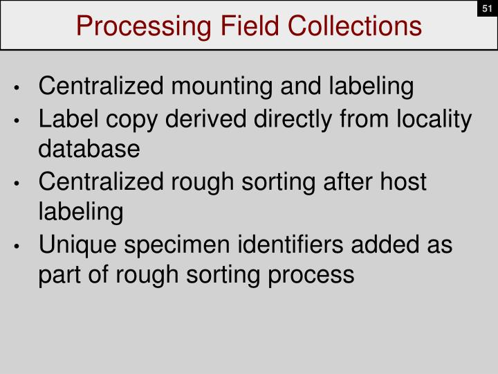 Processing Field Collections