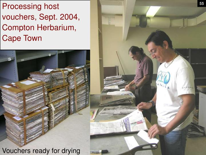 Processing host vouchers, Sept. 2004,