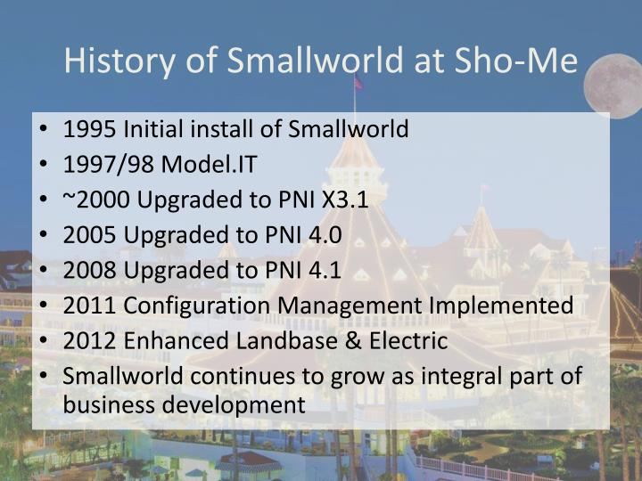 History of Smallworld at Sho-Me