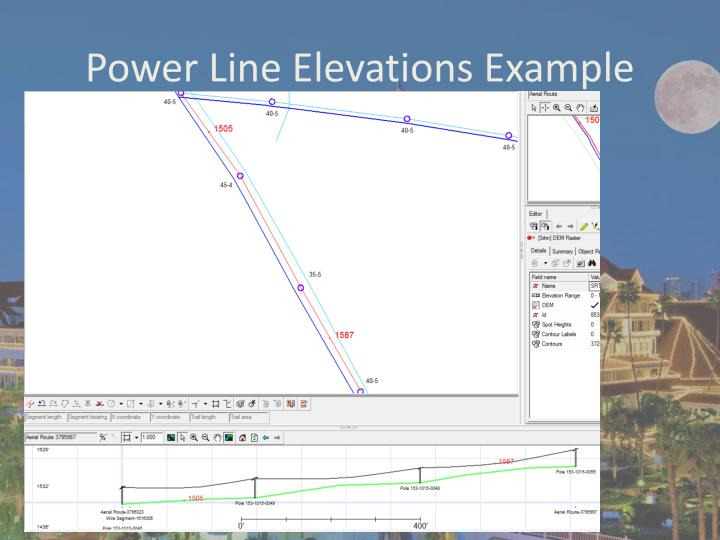 Power Line Elevations Example