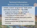 technical information business data integration