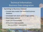 technical information business data integration1