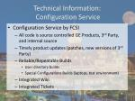 technical information configuration service