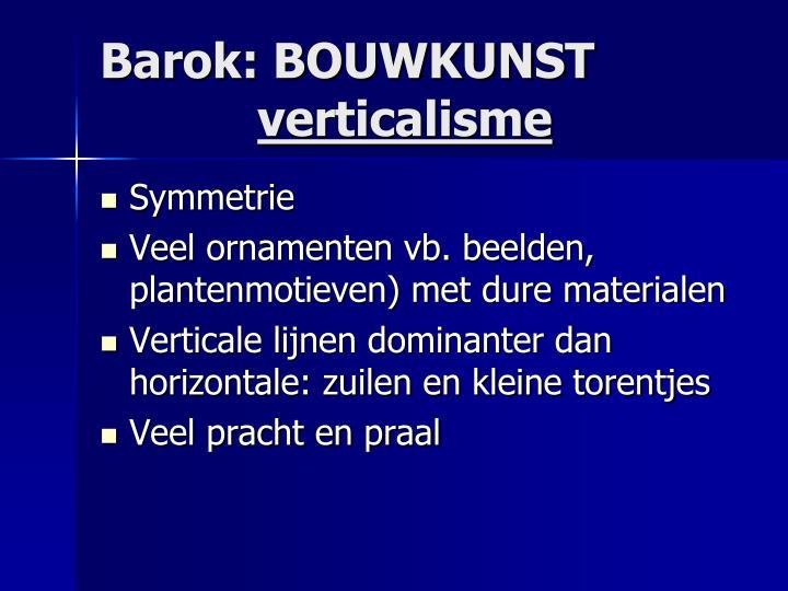 Barok: BOUWKUNST
