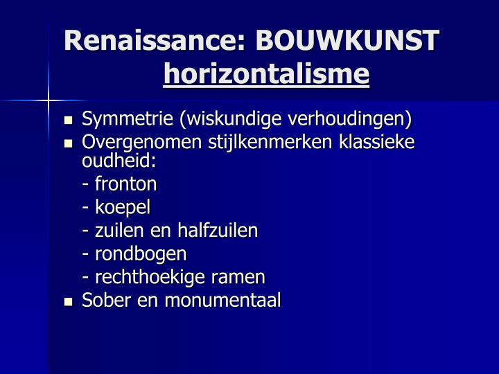 Renaissance: BOUWKUNST
