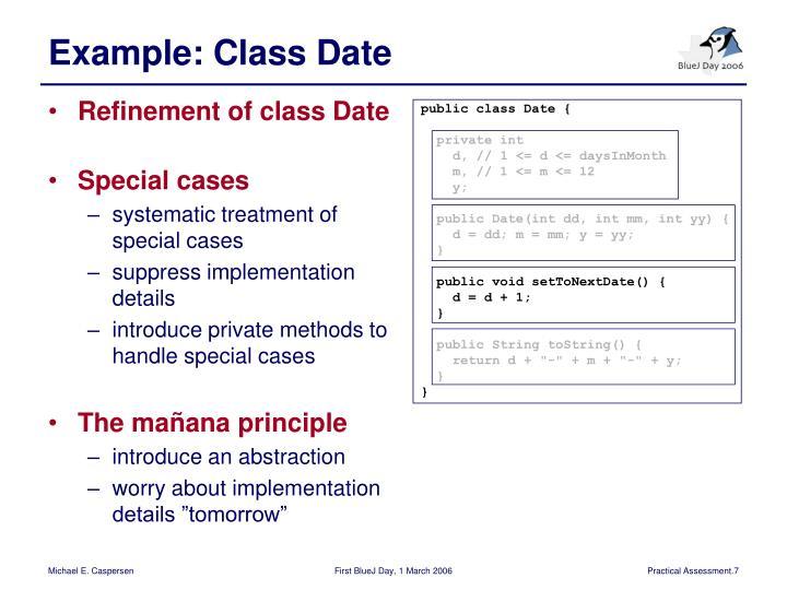 public class Date {