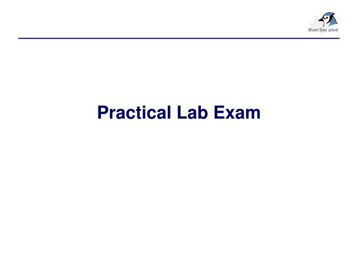 Practical Lab Exam