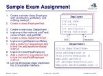 sample exam assignment