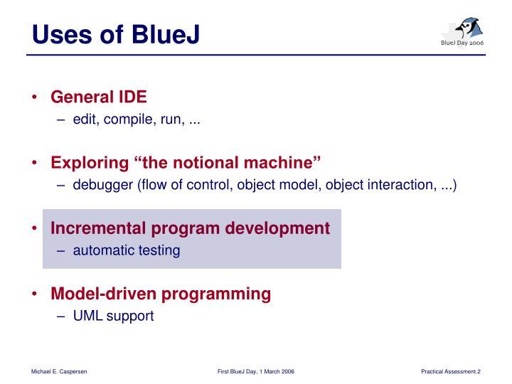 Uses of BlueJ