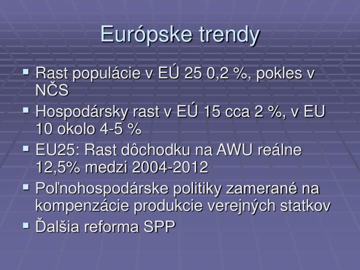 Európske trendy