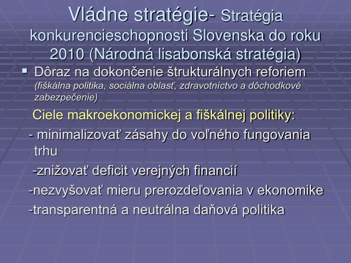 Vládne stratégie-