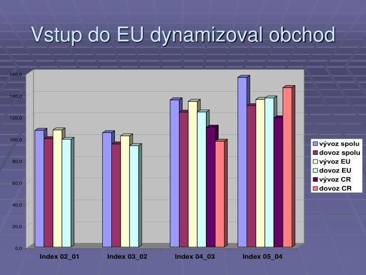 Vstup do EU dynamizoval obchod