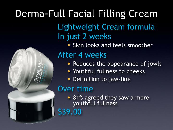 Derma-Full Facial Filling Cream