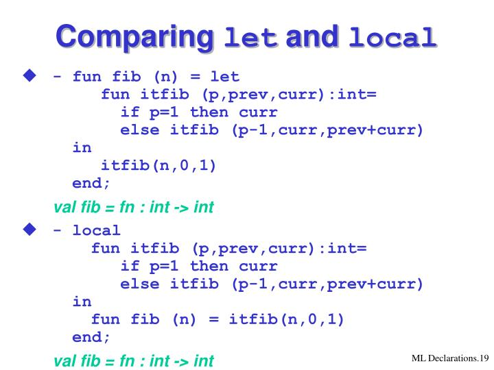Comparing