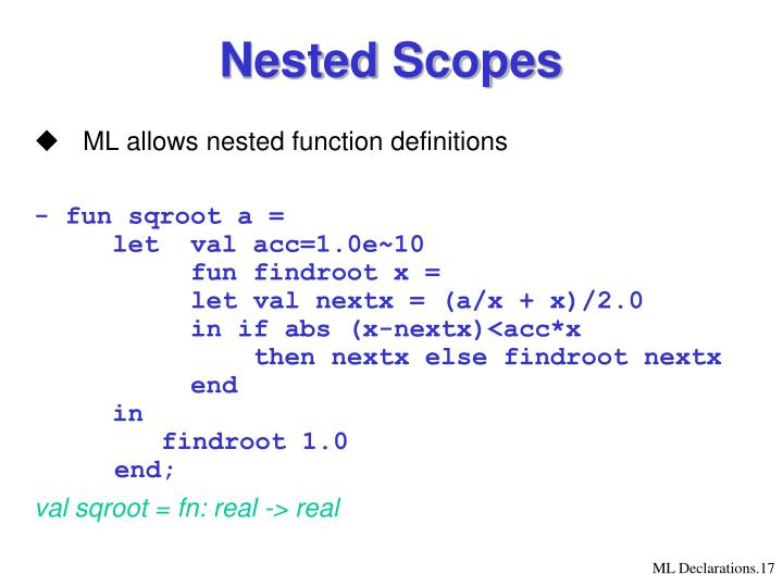 Nested Scopes