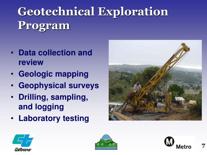 Geotechnical Exploration Program