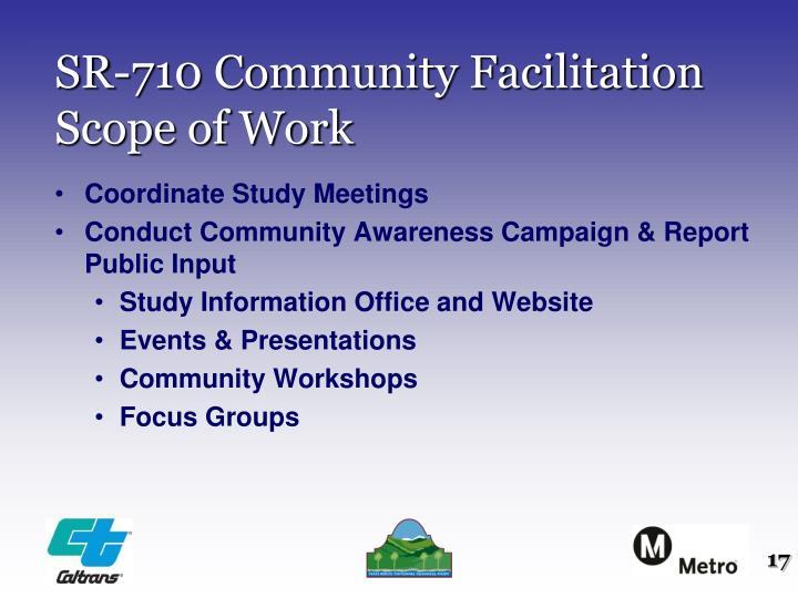 SR-710 Community Facilitation Scope of Work