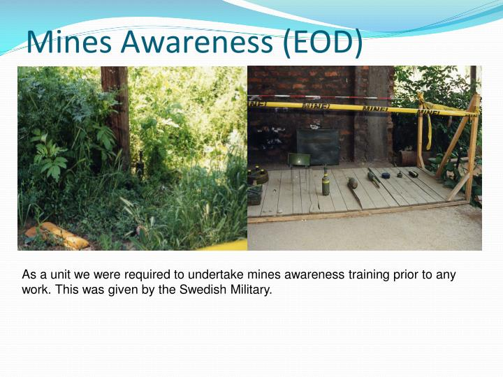Mines Awareness (EOD)
