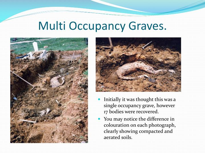 Multi Occupancy Graves.