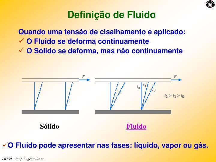 Definição de Fluido
