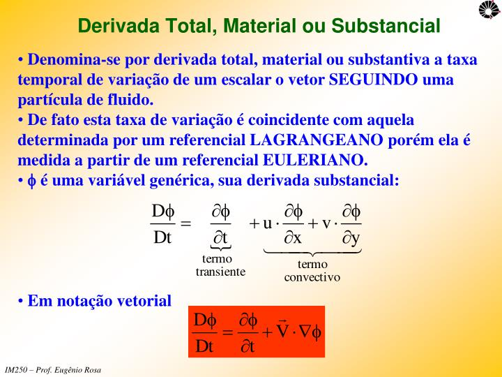 Derivada Total, Material ou Substancial