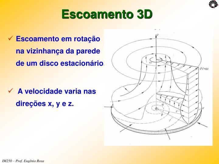 Escoamento 3D