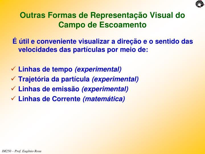 Outras Formas de Representação Visual do Campo de Escoamento