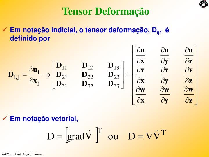 Tensor Deformação