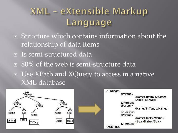 XML –