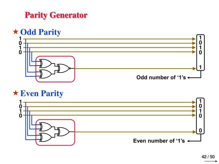 Parity Generator
