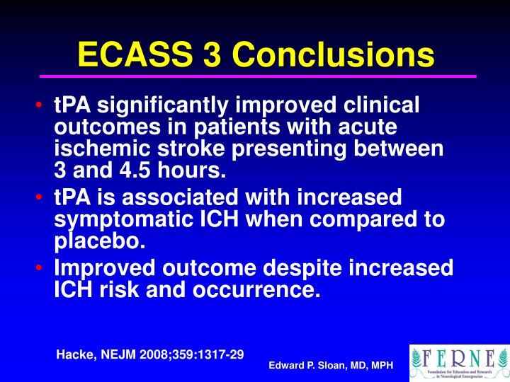 ECASS 3 Conclusions