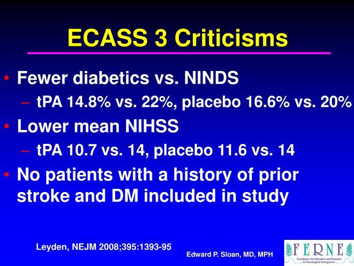 ECASS 3 Criticisms