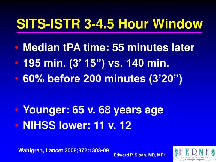 SITS-ISTR 3-4.5 Hour Window