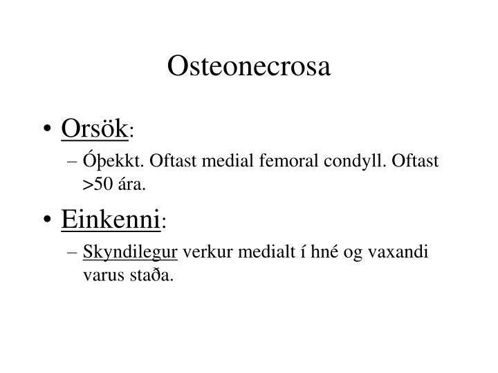 Osteonecrosa