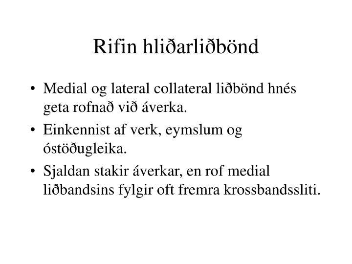 Rifin hliðarliðbönd