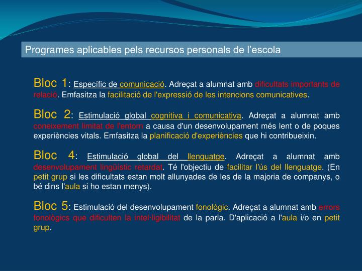 Programes