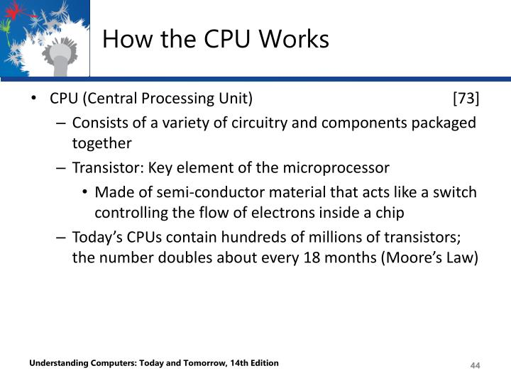 How the CPU Works