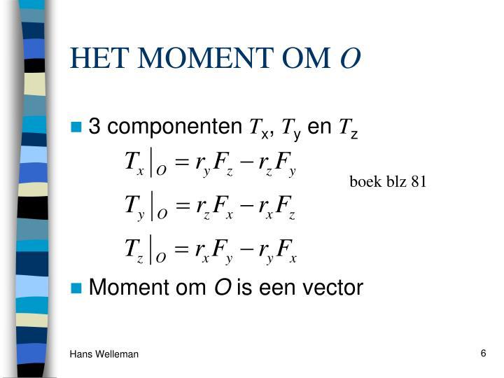 HET MOMENT OM