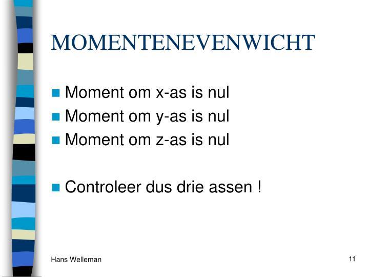 MOMENTENEVENWICHT