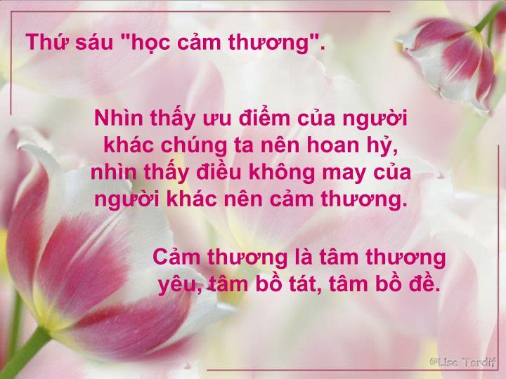 "Th su ""hc cm thng""."