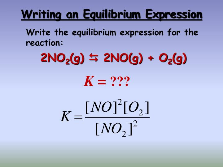 writing equilibrium expressions Watch the video solution for the question: write the equilibrium expression, kc, for the.