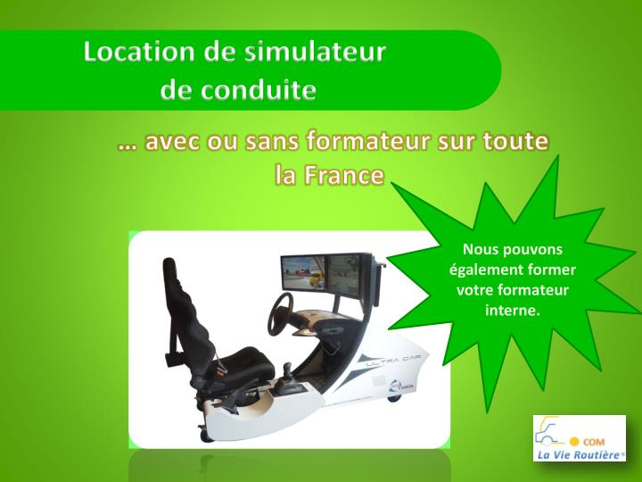 Location de simulateur