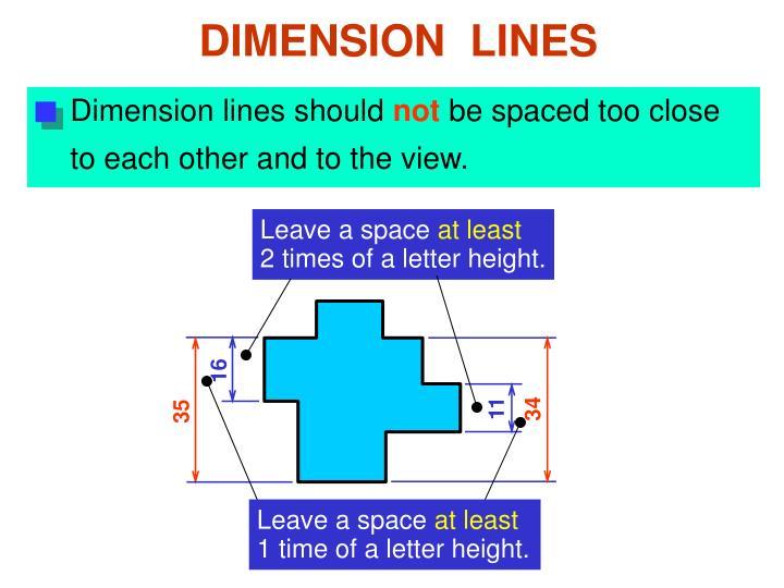 Dimension lines should